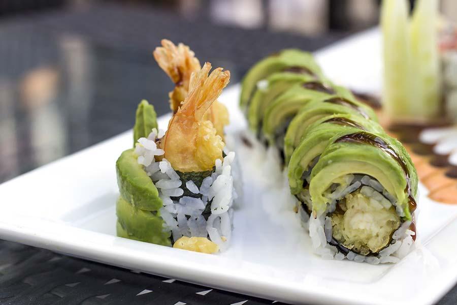 REWE Roth in Stuttgart bietet Sushi